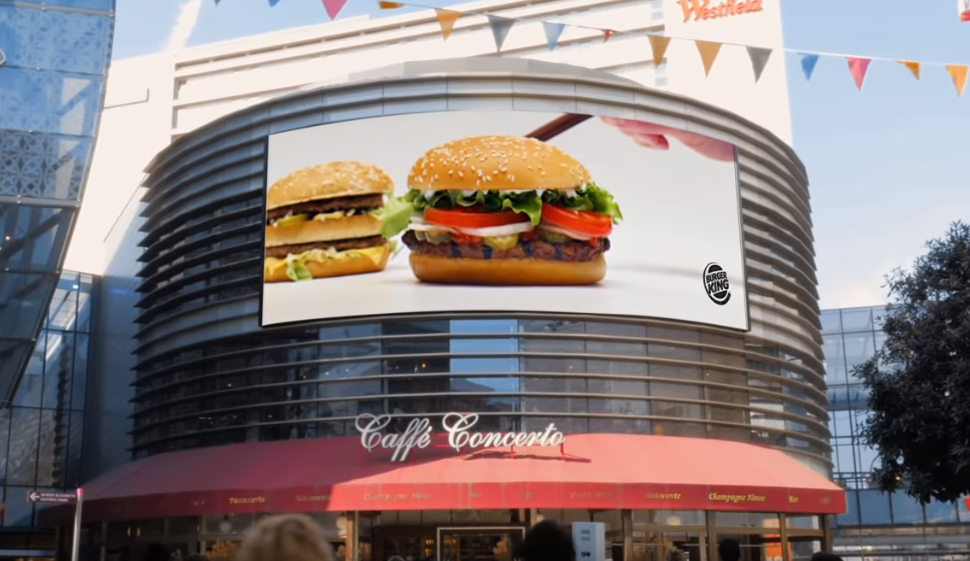 Burger King hid a Big Mac in every UK Whopper ad this year